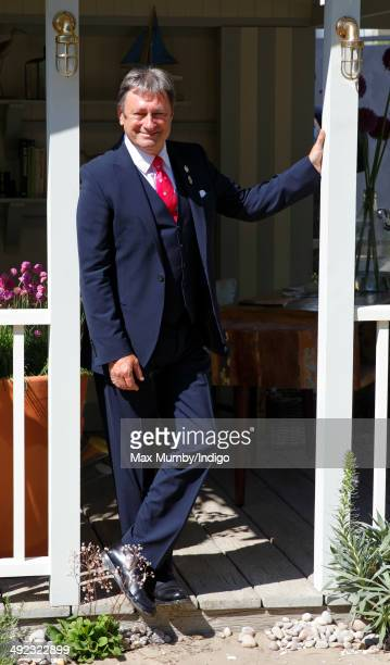 Alan Titchmarsh attends the VIP preview day of The Chelsea Flower Show at The Royal Hospital Chelsea on May 19 2014 in London England
