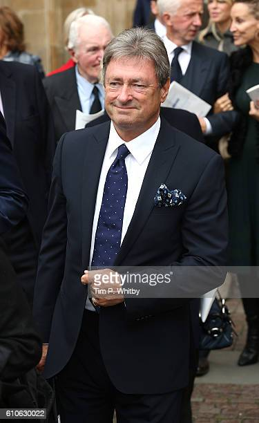 Alan Titchmarsh departs after attending a memorial service for the late Sir Terry Wogan at Westminster Abbey on September 27 2016 in London England