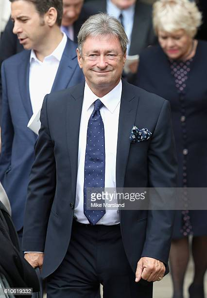 Alan Titchmarsh leaves a memorial service for the late Sir Terry Wogan at Westminster Abbey on September 27 2016 in London England