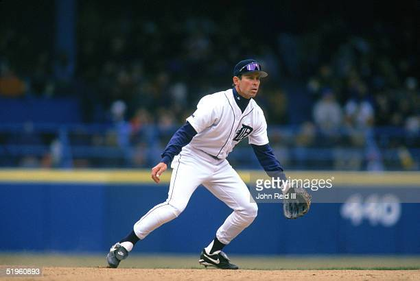 Alan Trammell of the Detroit Tigers moves for the ball during a 1996 season game Alan Trammell played for the Detroit Tigers from 19771996