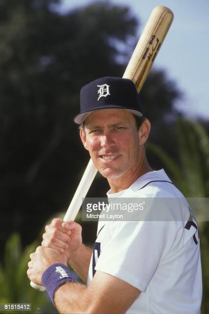 Alan Trammell of the Detroit Tigers poses for photo during media day on February 27 1997 at Marchant Stadium in Lakeland Florida