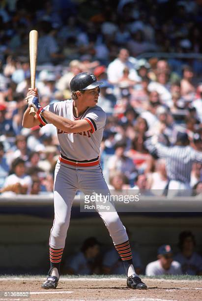 Alan Trammell of the Detroit Tigers stands ready at the plate during a game in July of 1978