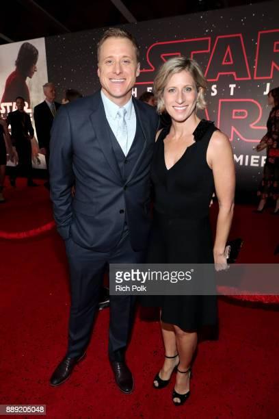 Alan Tudyk and Charissa Barton at Star Wars The Last Jedi Premiere at The Shrine Auditorium on December 9 2017 in Los Angeles California
