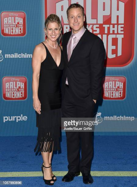 Alan Tudyk and Charissa Barton attend the premiere of Disney's 'Ralph Breaks the Internet' at El Capitan Theatre on November 5 2018 in Los Angeles...