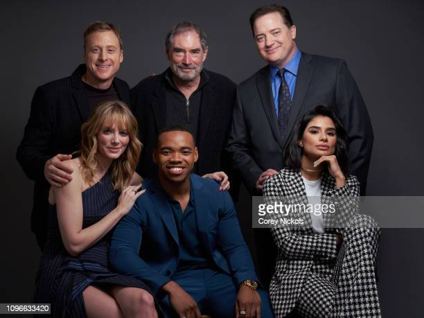 Alan Tudyk Timothy Dalton Brendan Fraser April Bowlby Joivan Wade and Diane Guerrero of DC Universe's 'Doom Patrol' pose for a portrait during the...