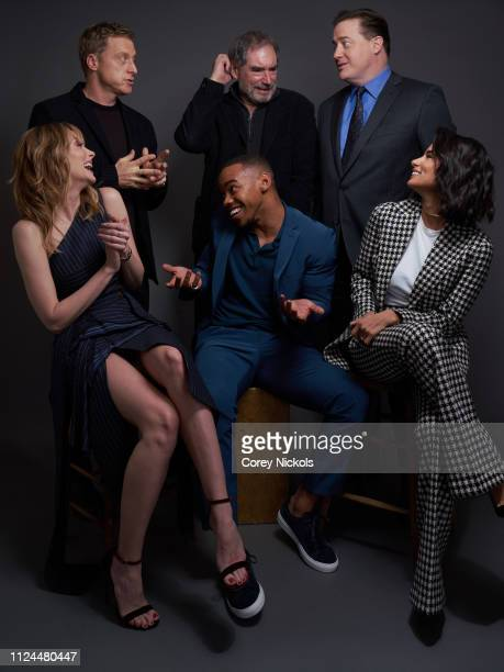 Alan Tudyk Timothy Dalton Brendan Fraser April Bowlby Joivan Wade and Diane Guerrero of DC Universe's Doom Patrol pose for a portrait during the 2019...