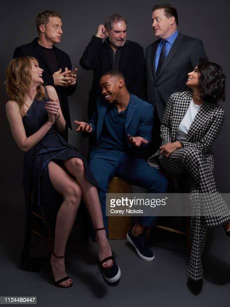 Alan Tudyk Timothy Dalton Brendan Fraser April Bowlby Joivan Wade and Diane Guerrero of DC Universe's 'Doom Patrol' pose for a portrait during the...