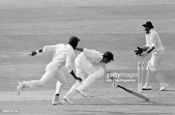 Alan Turner of Australia is run out during the Prudential World Cup Final between Australia and West Indies at Lord's Cricket Ground London 21st June...