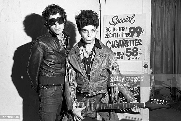 Alan Vega and Martin Rev of Suicide in New York City on January 20, 1980.