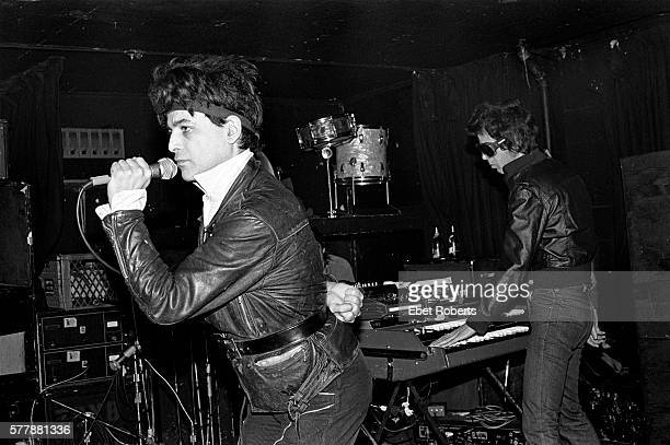 Alan Vega and Martin Rev of Suicide performing at Max's Kansas City on January 18, 1980.