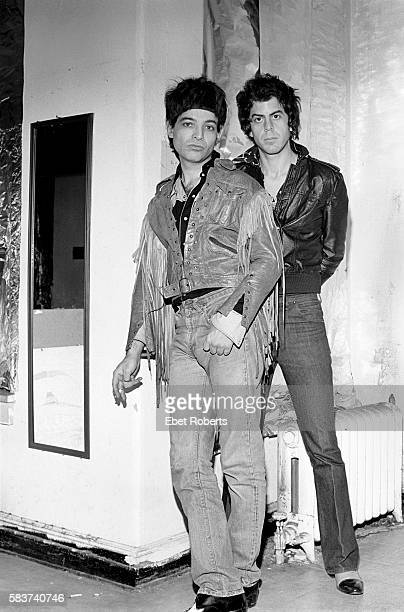 Alan Vega and Martin Rev of Suicide photographed in Alan's loft in New York City on January 20, 1980.