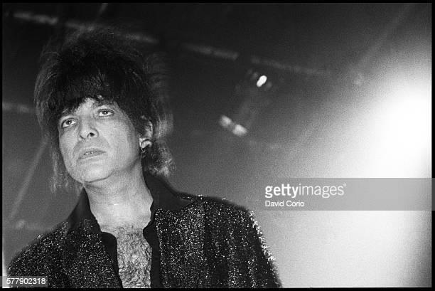 Alan Vega former singer in Suicide performing at The Venue, London, UK on 1 June 1982.