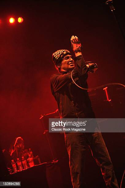 Alan Vega of American electronic protopunk band Suicide, live on stage at the Hammersmith Apollo, May 3 Hammersmith.