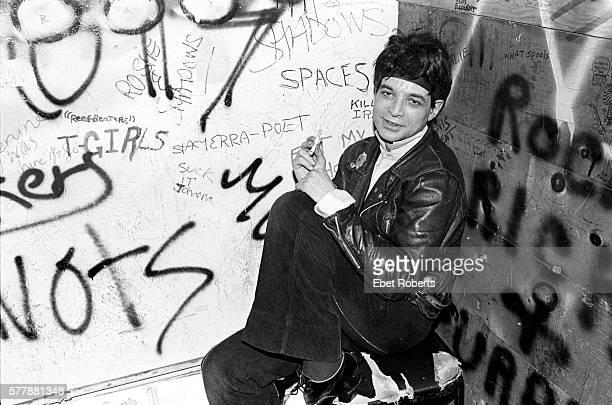 Alan Vega of Suicide Backstage at Max's Kansas City on January 18, 1980.