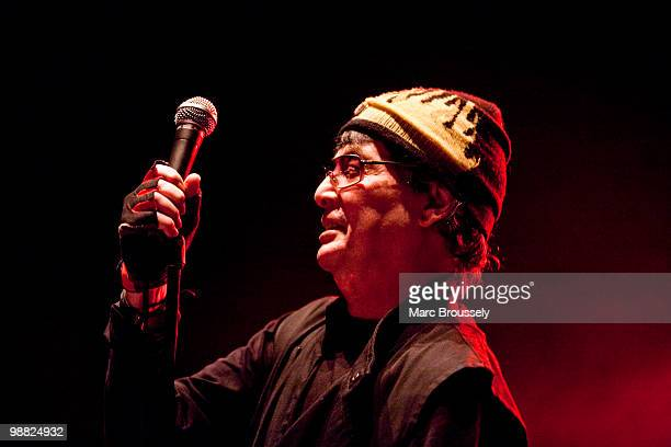 Alan Vega of Suicide perform on stage at Hammersmith Apollo on May 3, 2010 in London, England.