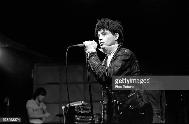 Alan Vega of Suicide performing at Hurrah in New York City on March 11, 1980.