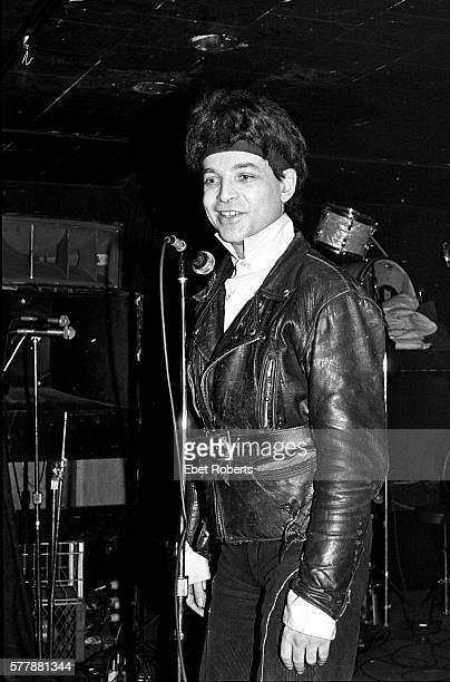 Alan Vega of Suicide performing at Max's Kansas City on January 18, 1980.