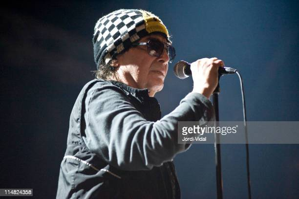 Alan Vega of Suicide performs on stage during the second day of Primavera Sound Festival at Poble Espanyol on May 26, 2011 in Barcelona, Spain.