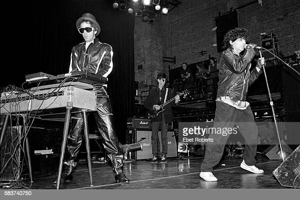 Alan Vega performing with Suicide and Ric Ocasek at The Ritz in New York City on October 21, 1989.