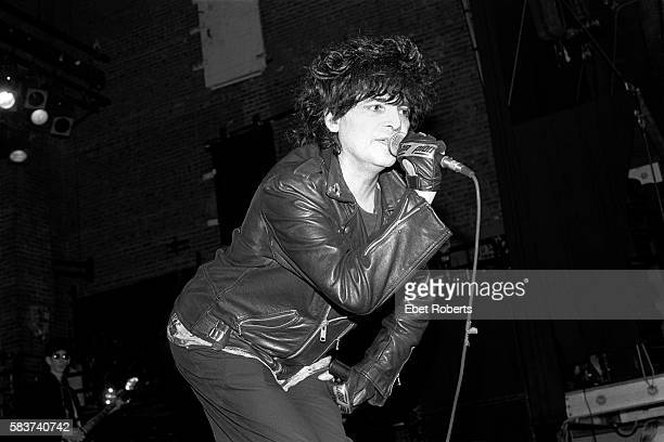 Alan Vega performing with Suicide at The Ritz in New York City on October 21, 1989.