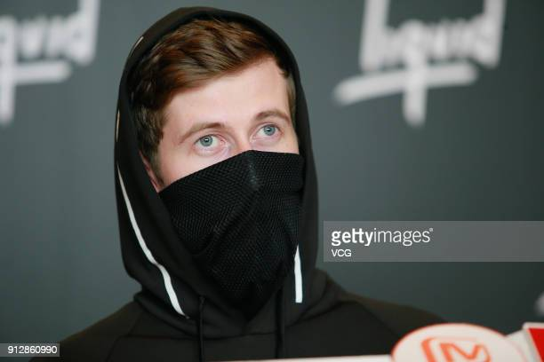 Alan Walker attends a news conference after Chinese internet giant Tencent and Sony Music Entertainment signing distribution partnership on January...