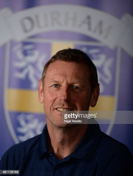 Alan Walker bowling coach of Durham poses for a portrait during the Durham CCC Photocall at The Riverside on March 28 2014 in ChesterLeStreet England