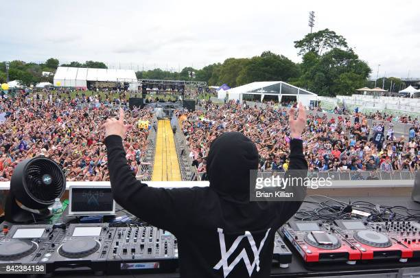 Alan Walker performs at the Electric Zoo Music Festival Day 3 at Randall's Island on September 3 2017 in New York City