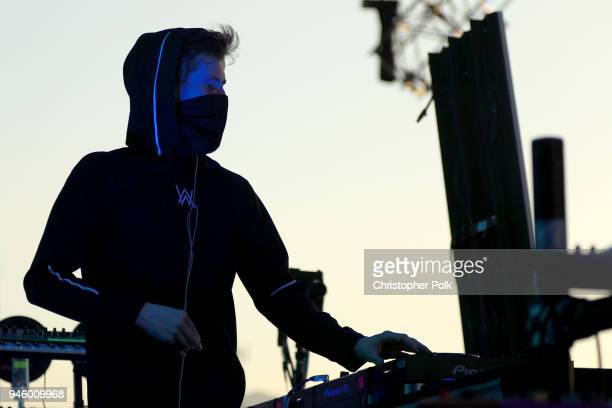 Alan Walker performs onstage during the 2018 Coachella Valley Music And Arts Festival at the Empire Polo Field on April 13 2018 in Indio California