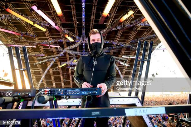 Alan Walker perfroms onstage during the 2018 Coachella Valley Music And Arts Festival at the Empire Polo Field on April 13 2018 in Indio California