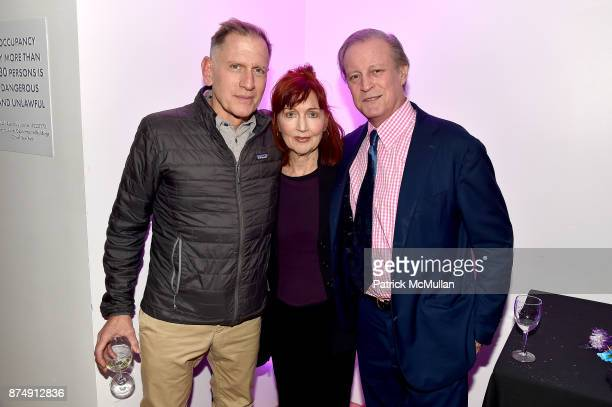 Alan Wantzenberg Pat Hackett and Patrick McMullan attend Barbara Tober hosts a party for 'AVEDON Something Personal' at Museum of Art and Design on...