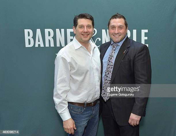 Alan Watts and Jason Giagrande attend the Celebrity Chefs Judge The First Annual Barnes Noble Cookie BakeOff Contest at Barnes Noble Union Square on...