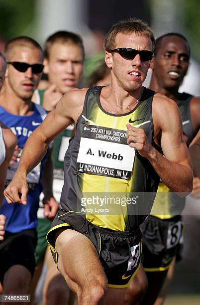 Alan Webb competes in the first round of the men's 1500 meter run during day two of the AT&T USA Outdoor Track and Field Championships at IU Michael...