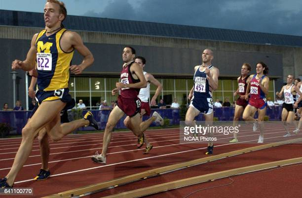 Alan Webb of Michigan takes the early lead in the Men's 1500 Meter Final during the Division 1 Men's and Women's Track and Field Championship held at...