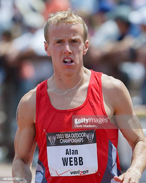 Alan Webb of the USA warms up before the final of the Men's 1500 meter event of the 2003 USA Track and Field Outdoor Championships on June 22, 2003...