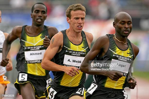 Alan Webb Said Ahmed and Bernard Lagat compete in the men's 1500 meter run during day four of the AT&T USA Outdoor Track and Field Championships at...