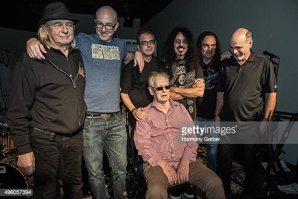 Alan White Ty Dennis Frankie Banali Vinny Appice Danny Seraphine and Ginger Baker attend the Rock 'N' Roll Fantasy Camp at Amp Rehearsal on November...
