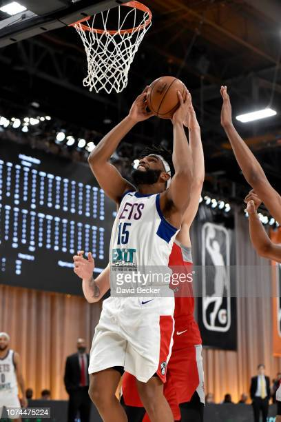 Alan Williams of the Long Island Nets goes to the basket the Rio Grande Valley Vipers during the NBA G League Winter Showcase on December 20 2018 at...
