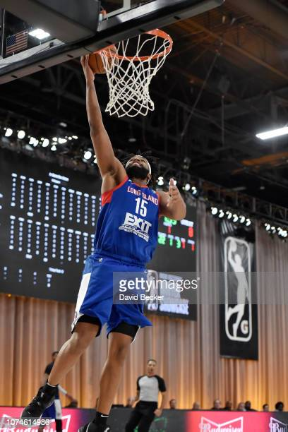 Alan Williams of the Long Island Nets shoots the ball against the Oklahoma City Blue during the NBA G League Winter Showcase at Mandalay Bay Events...