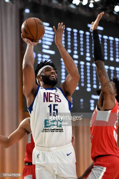Alan Williams of the Long Island Nets shoots the ball against the Rio Grande Valley Vipers during the NBA G League Winter Showcase on December 20...