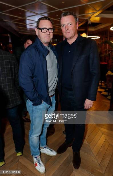 Alan Wogan and Mark Wogan attend the unveiling of the 2019 Murphia List at The Marylebone Hotel on March 11 2019 in London England