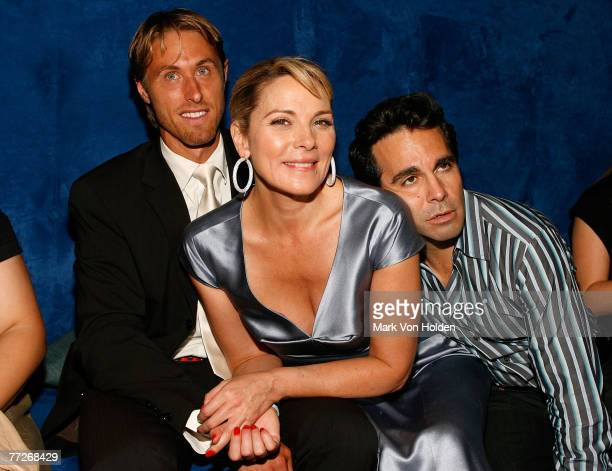 Alan Wyse actors Kim Cattrall and Mario Cantone during the Conde Nast Traveler celebration of 20 Years of Truth in Travel at Cooper Hewitt National...