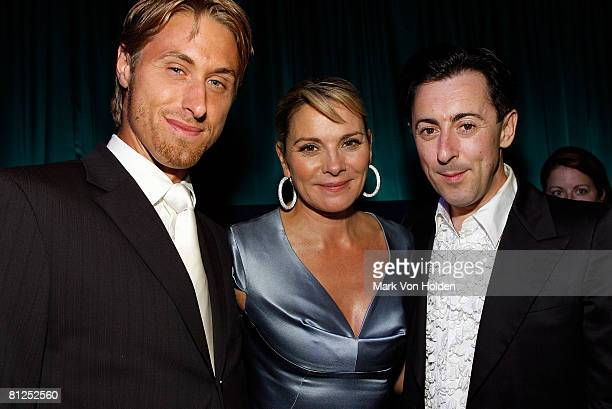 Alan Wyse and actors Kim Katrall and Alan Cumming during the Conde Nast Traveler celebration of 20 Years of Truth in Travel at Cooper Hewitt National...