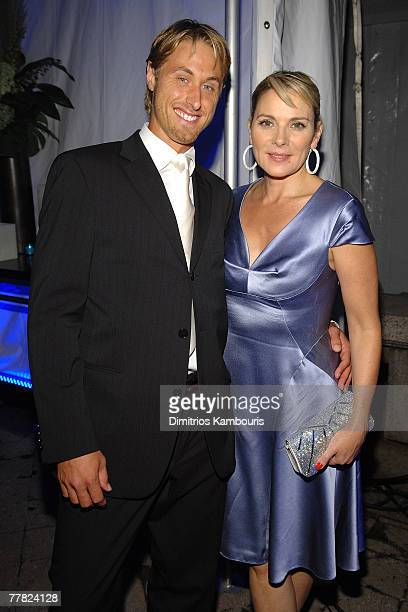 Alan Wyse and actress Kim Cattrall during the Conde Nast Traveler celebration of 20 years of Truth in Travel at Cooper Hewitt National Design Museum...