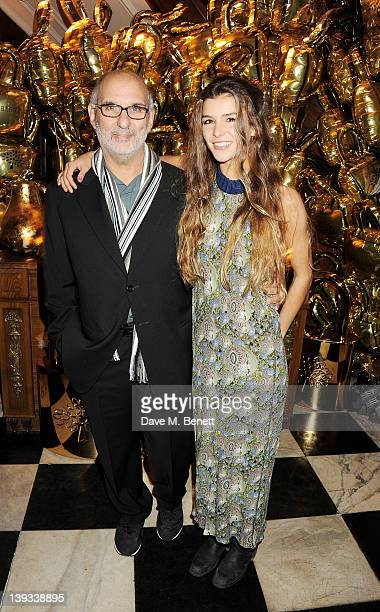 Alan Yentob and Bella Yentob attend a dinner following the Mulberry Autumn/Winter 2012 show during London Fashion Week at The Savile Club on February...