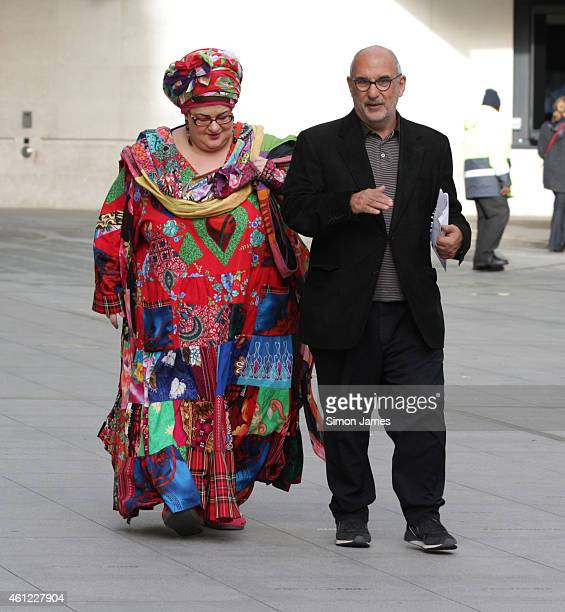 Alan Yentob and Camila Batmanghelidjh sighting at the BBC on January 9 2015 in London England