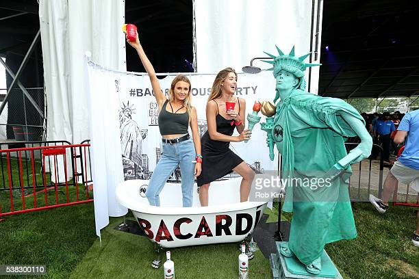 Alana Blanchard and Jessica Serfaty attend BACARDI presents the BACARDI UNTAMEABLE HOUSE PARTY at Governors Ball Music Festival at Governor's Island...