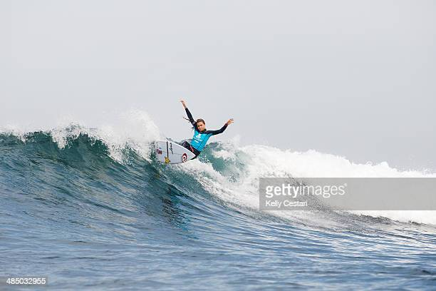 Alana Blanchard of Hawaii placed third in her RipCurl Pro Round 1 heat on April 16 2014 in Bells Beach Australia
