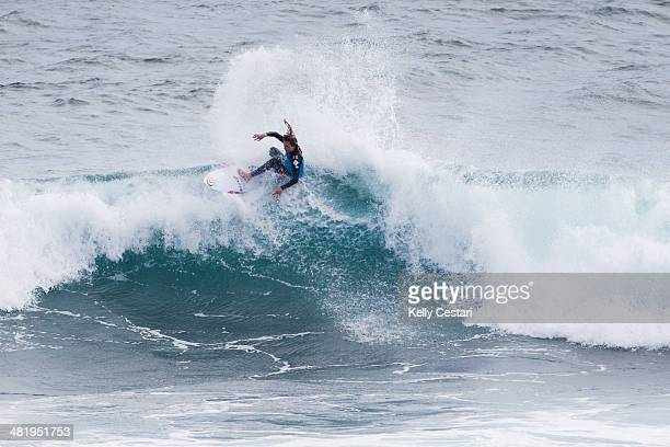 Alana Blanchard of Hawaii placed third in her Round 1 heat of the Drug Aware Margaret River Pro at Margaret River on April 2 2014 in Margaret River...