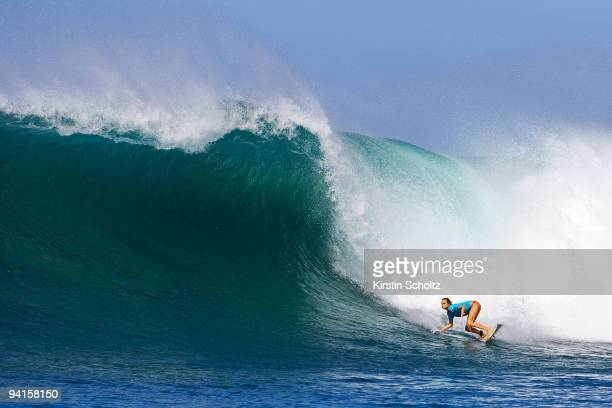 Alana Blanchard of Hawaii surfing during round 1 of the Billabong Pro Maui on December 8 2009 at Honolua Bay Maui Hawaii