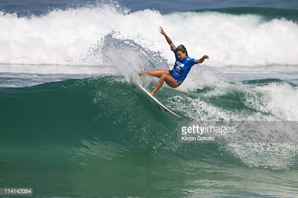 Alana Blanchard of Hawaii surfs during round one of the Billabong Rio Pro at Barra da Tijuca on May 12 2011 in Rio de Janeiro Brazil